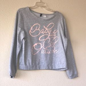 H&M Baby it's cold outside sweatshirt